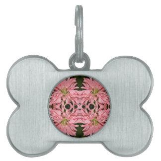 Flor reflexión enero de 2013 rosado placa mascota