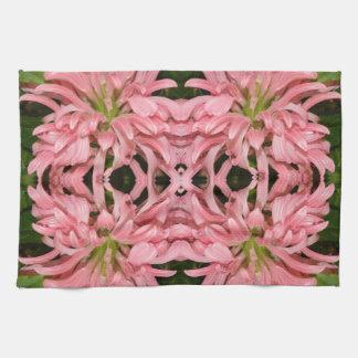 Flor reflexión enero de 2013 rosado toallas de mano