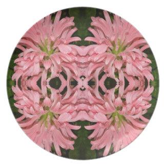 Flor reflexión enero de 2013 rosado plato para fiesta