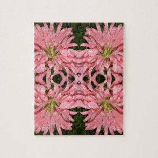 Flor reflexión enero de 2013 rosado puzzle con fotos