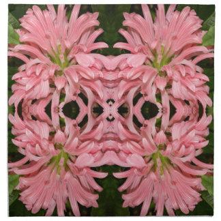 Flor reflexión enero de 2013 rosado servilletas de papel