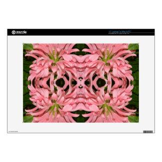 Flor reflexión enero de 2013 rosado skins para 38,1cm portátil