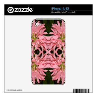 Flor reflexión enero de 2013 rosado calcomanías para el iPhone 4