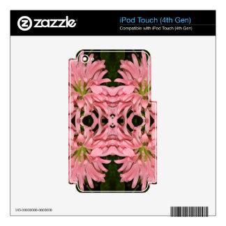 Flor reflexión enero de 2013 rosado calcomanía para iPod touch 4G