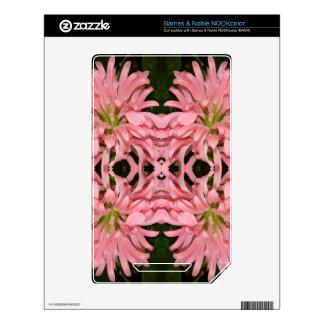 Flor reflexión enero de 2013 rosado skins para elNOOK color