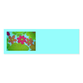 flor retra de los años 70 única tarjetas de visita
