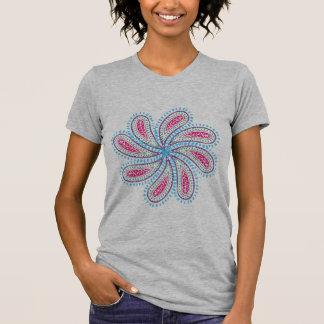 Flor retra de Paisley Camiseta