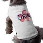 Flor retra los E.E.U.U. Camisas De Perritos