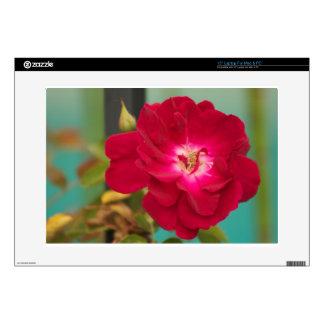 Flor roja 38,1cm portátil calcomanía