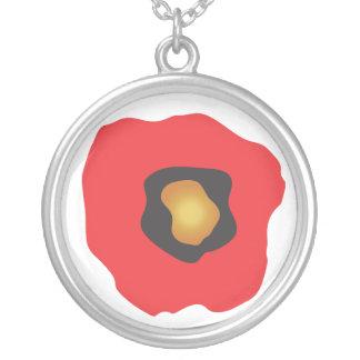 Flor roja abstracta colgante redondo
