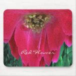 Flor roja alfombrilla de ratón