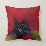 Flor roja, amapola almohadas