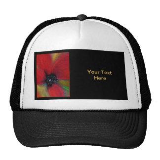 Flor roja, amapola gorra