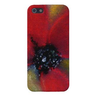 Flor roja, amapola iPhone 5 funda