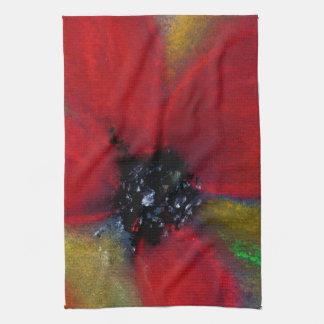 Flor roja, amapola toalla