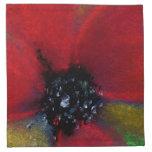 Flor roja, amapola servilletas