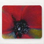 Flor roja, amapola tapete de raton