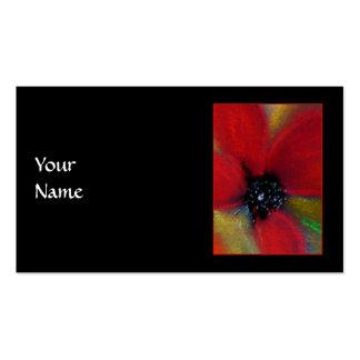 Flor roja amapola tarjetas de negocios