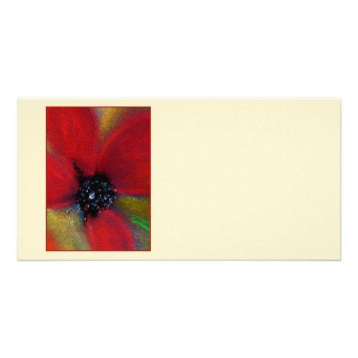 Flor roja, amapola tarjetas personales