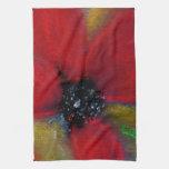Flor roja, amapola toallas