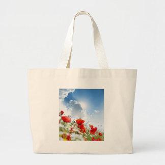 Flor roja bolsas
