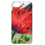 Flor roja brillante de la amapola