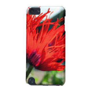 Flor roja brillante de la amapola funda para iPod touch 5G