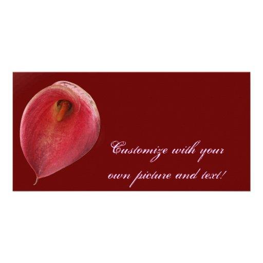 "Flor roja brillante del ""flamenco exótico"" tarjeta fotografica"