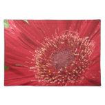 Flor roja brillante manteles