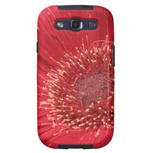 Flor roja brillante samsung galaxy s3 protector