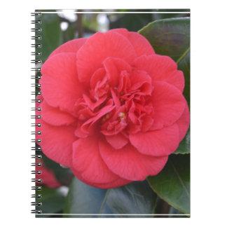 Flor roja de Camelia Cuaderno