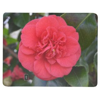 Flor roja de Camelia Cuaderno Grapado