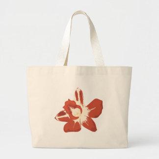 Flor roja de la orquídea bolsa