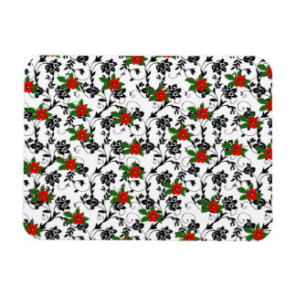 Flor roja en arte negro de la voluta