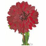 flor roja esculturas fotográficas