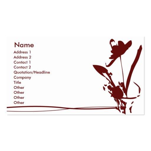 Flor roja - negocio tarjeta de visita