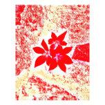 flor roja plantilla de membrete