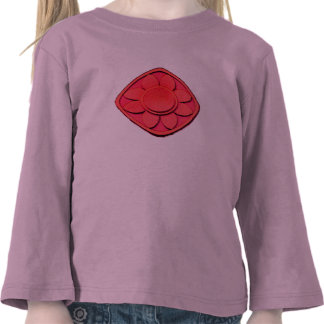 flor roja camisetas