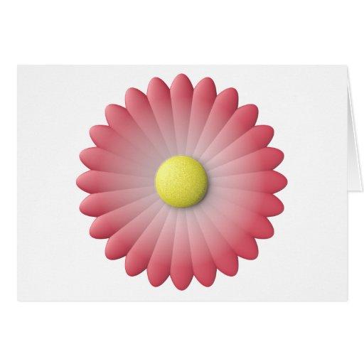 flor roja tarjeta de felicitación