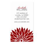 Flor roja tarjeta de negocio