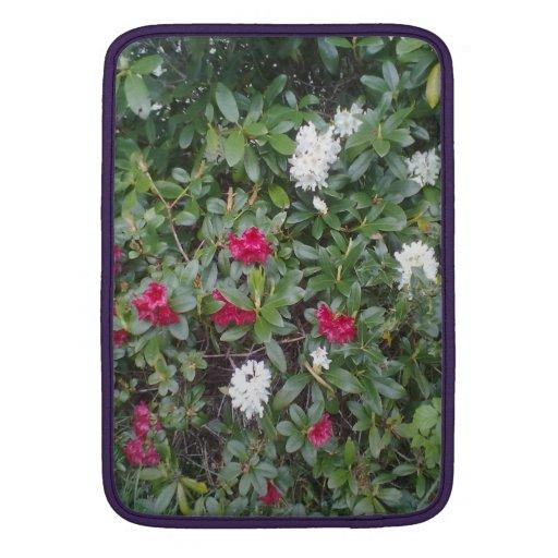 flor roja y blanca fundas MacBook