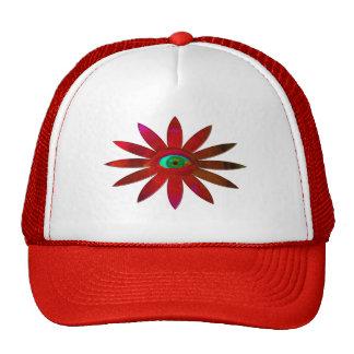 Flor rojiza del ojo gorras