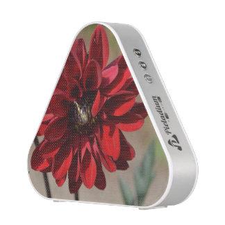 Flor rojo de la dalia altavoz bluetooth