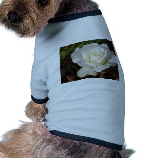 Flor romántico del rosa blanco de CricketDiane Camiseta Con Mangas Para Perro
