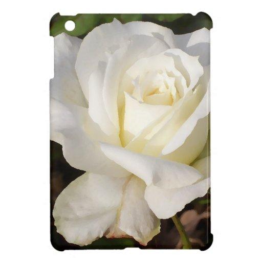 Flor romántico del rosa blanco de CricketDiane iPad Mini Cárcasas