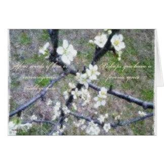 Flor romántico rústico del ciruelo felicitación