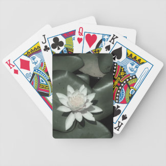 flor rosa clara blanca del lirio de agua del loto baraja cartas de poker