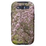Flor rosa claro del árbol galaxy s3 protector