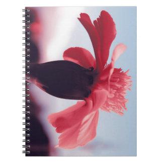 Flor rosa libro de apuntes