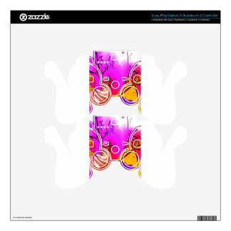 Flor rosa skins for PS3 controllers